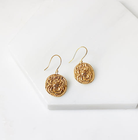 Zodiac Earrings- Cancer