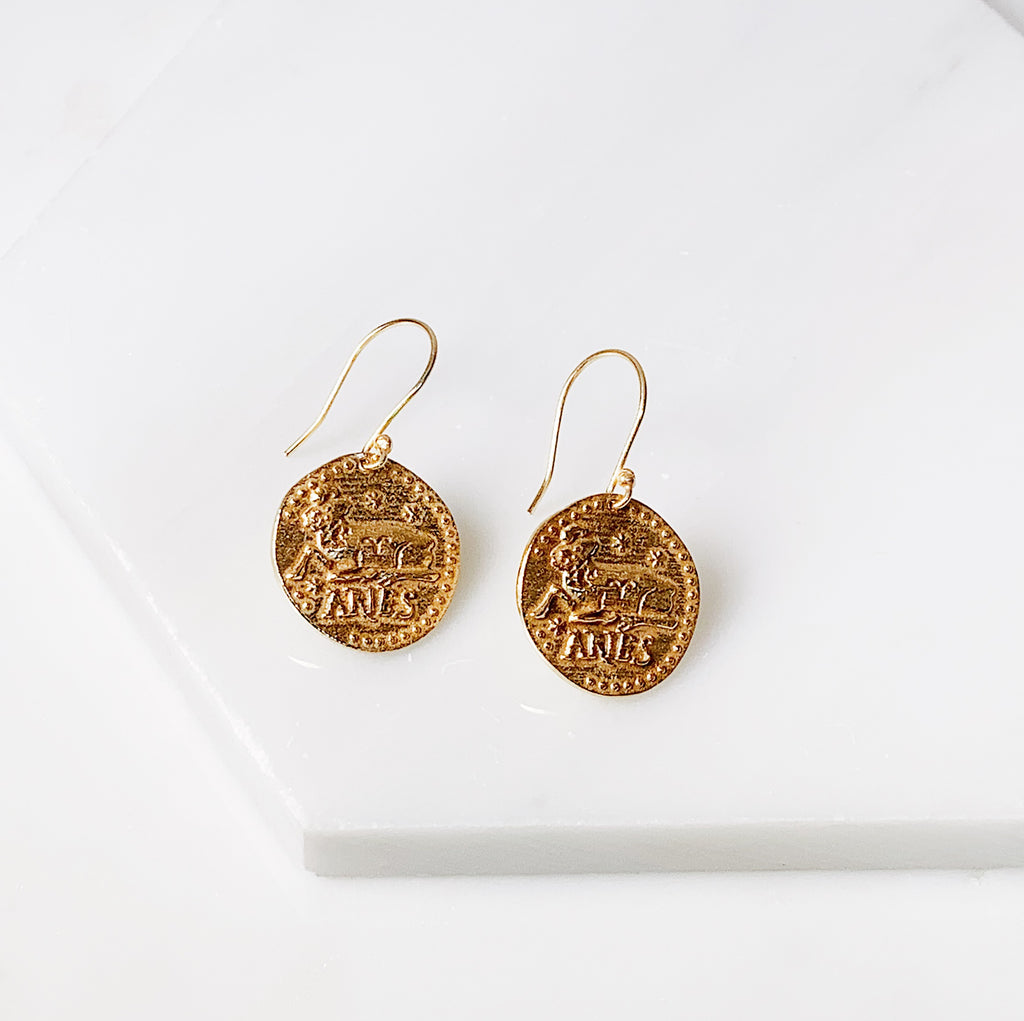 Zodiac Earrings- Aries
