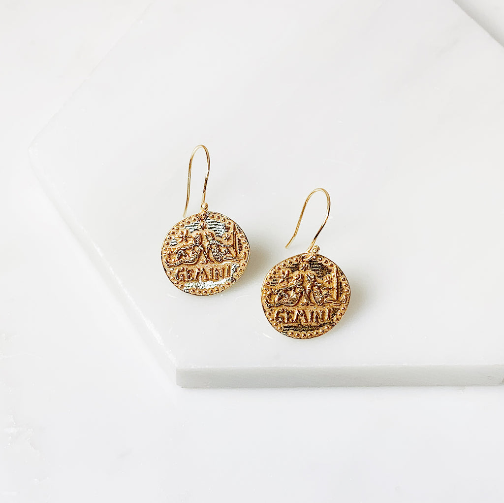 Zodiac Earrings- Gemini