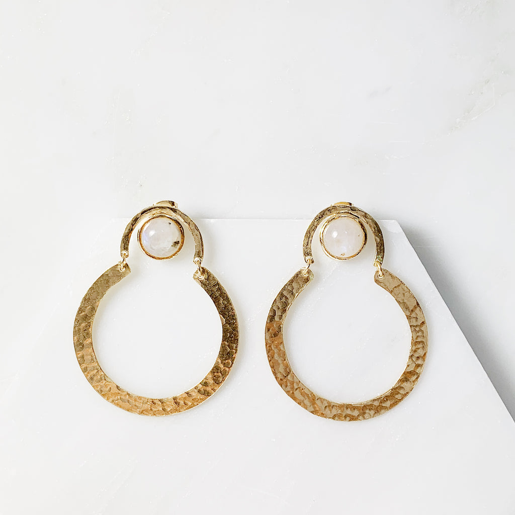 Helen Earrings- Moonstone