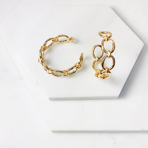 Ada Link Hoop Earrings