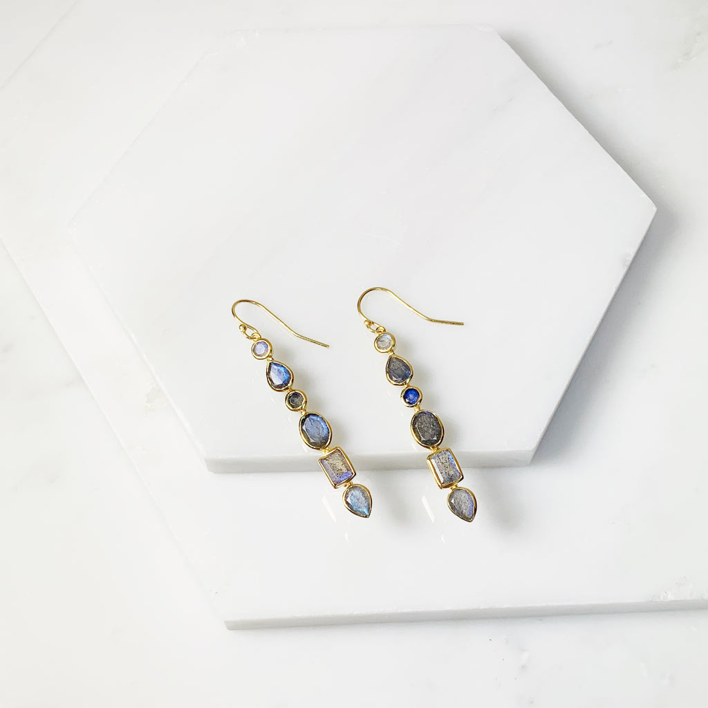 Renaissance Earrings- Labradorite
