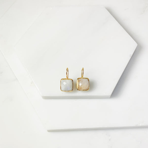 Serena Earrings- Moonstone