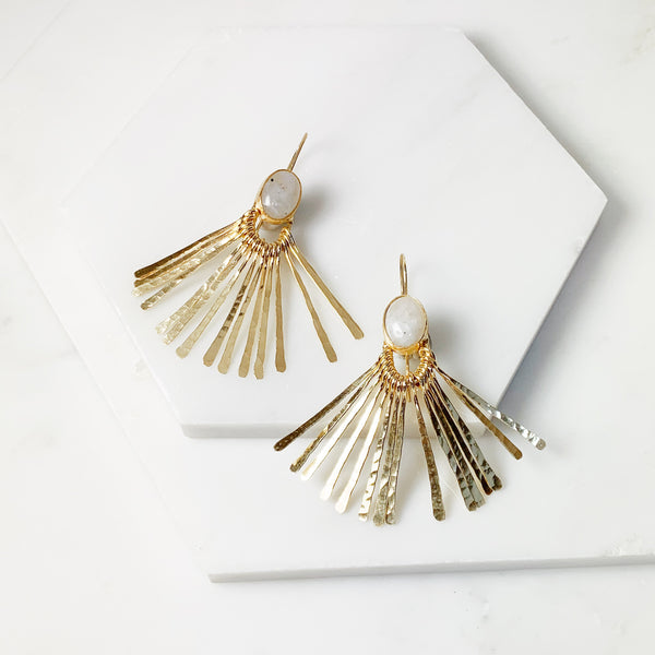 Aretha Earrings- Moonstone