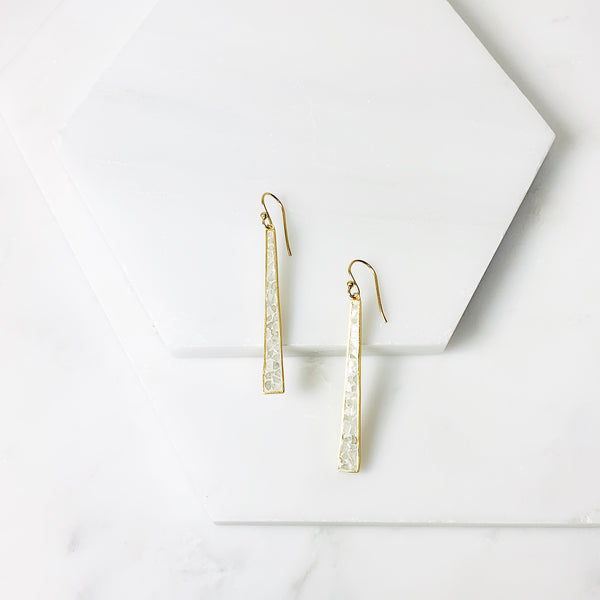 Wangari Earrings- White Deco Diamond