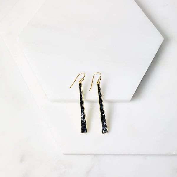 Wangari Earrings- Black Deco Diamond