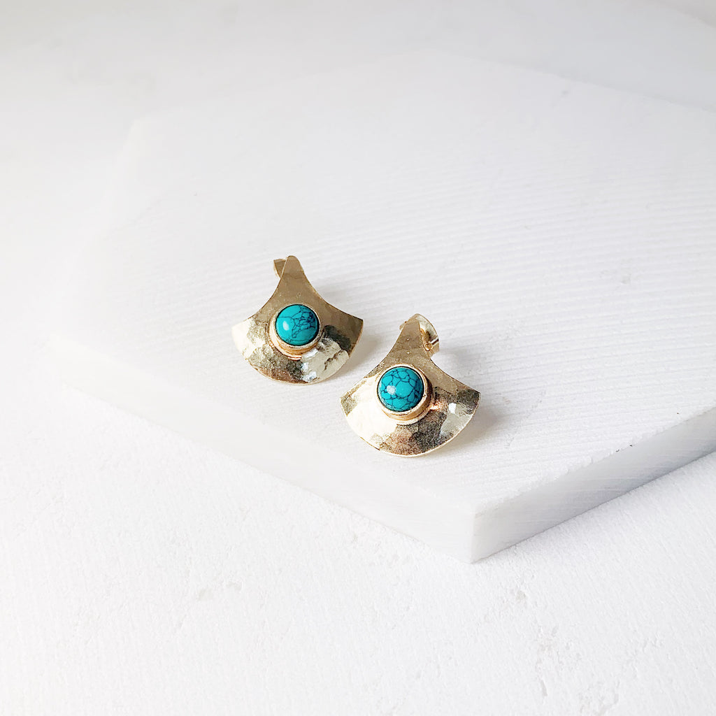 Cleo Earrings- Turquoise