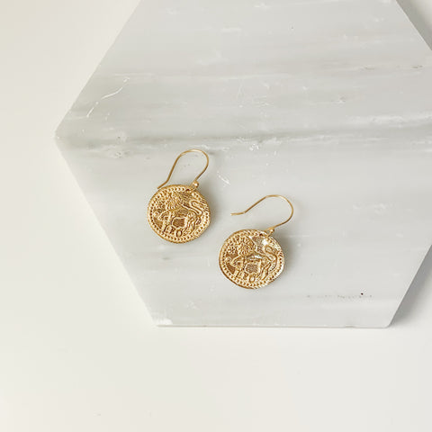 Zodiac Earrings- Leo
