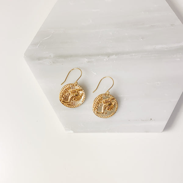 Zodiac Earrings- Scorpio