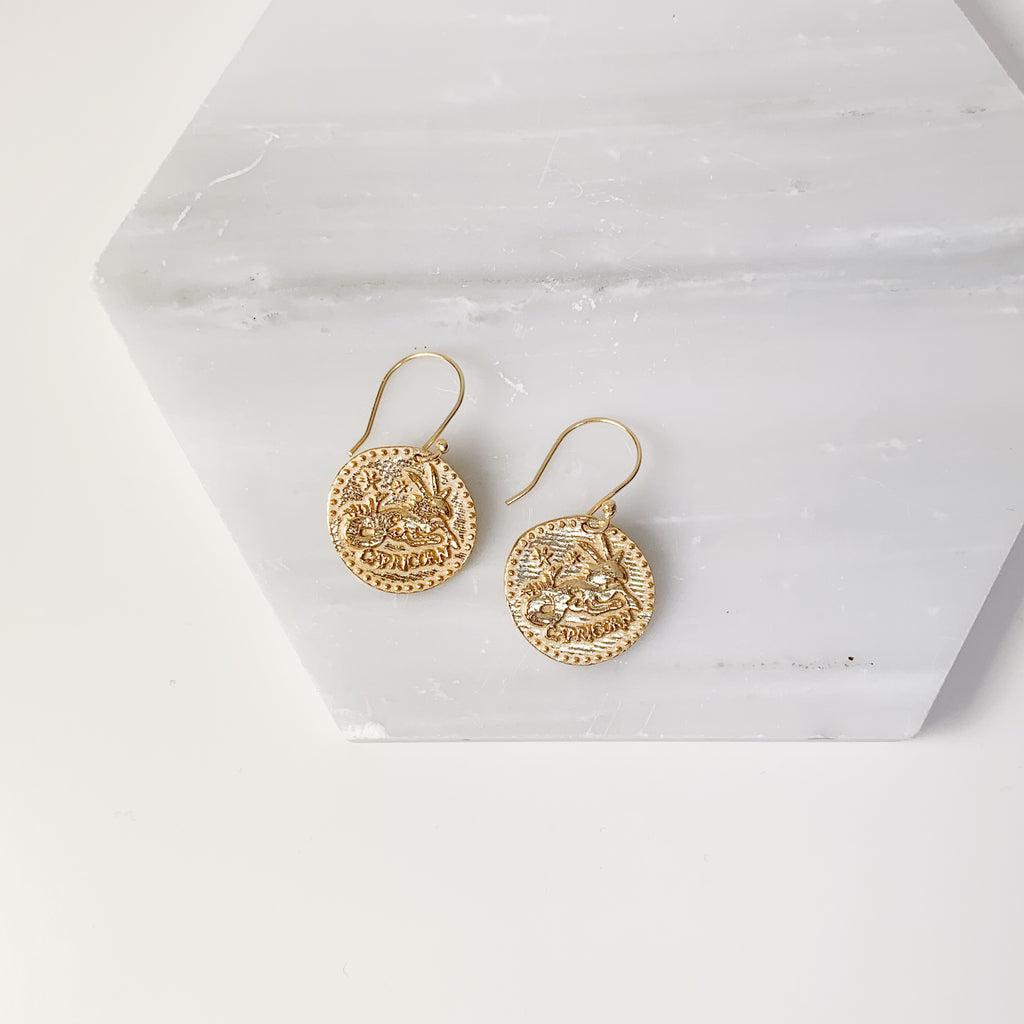 Zodiac Earrings- Capricorn