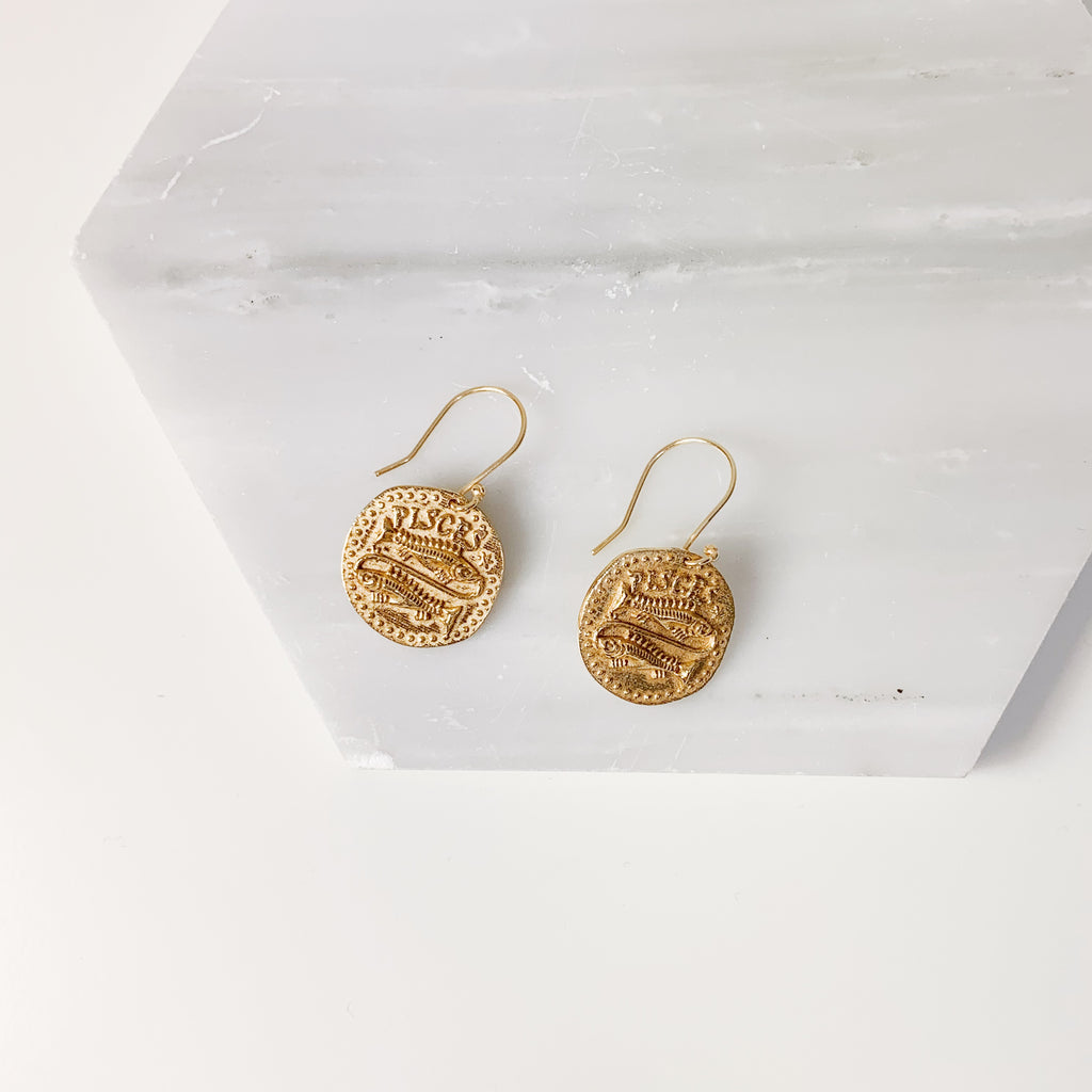 Zodiac Earrings- Pisces