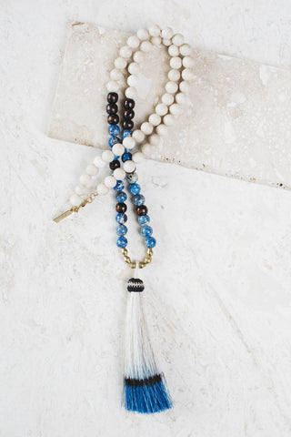 Indigo Tassel Necklace