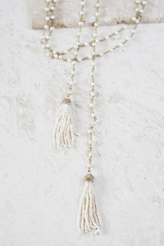 Windsor Wrap Necklace- Fresh Water Pearl