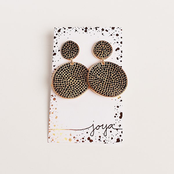 Atelier Rosa Statement Earrings - Black Spinel