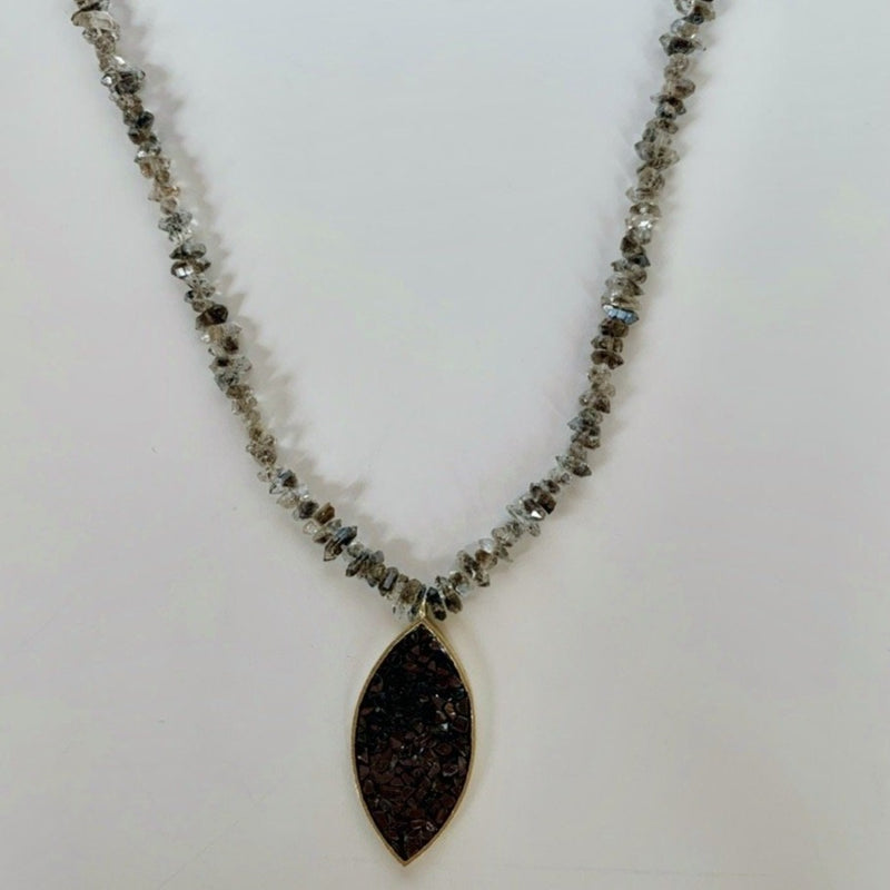 Erika Necklace - Diamond Quartz