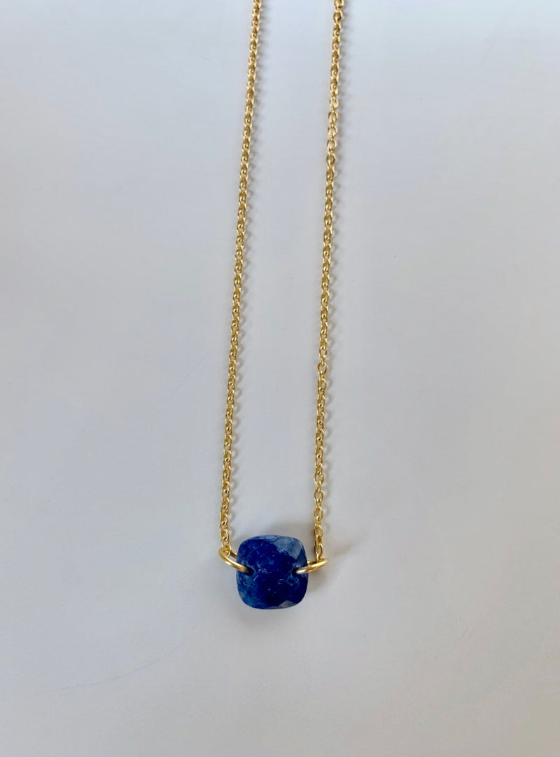 Gemstone Pendant Blue and Gold