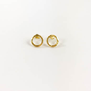 Perfect Circle Stud Earrings
