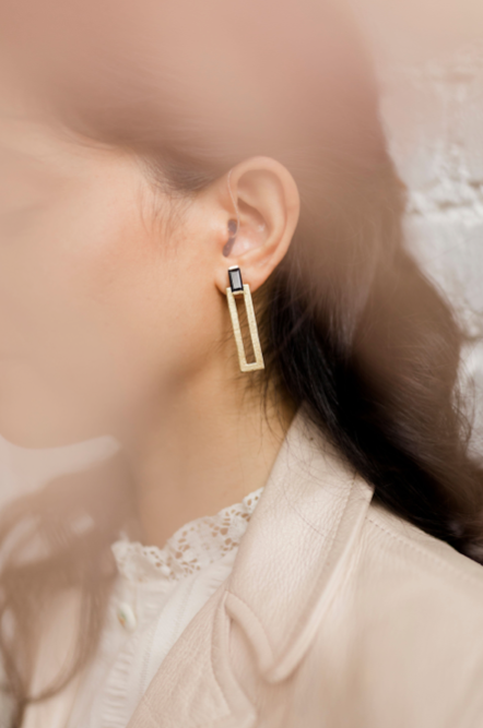 NEW! Natasha Earrings Black Onyx