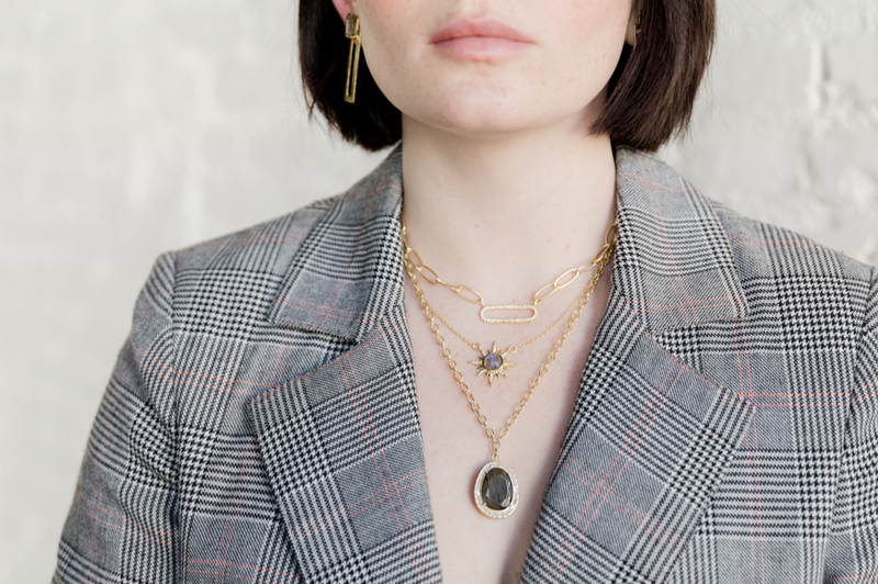 NEW! Elizabeth Necklace - Labradorite