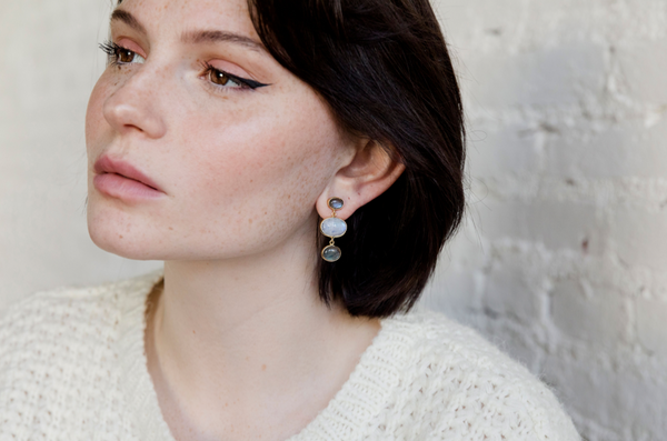 NEW! Darra Earrings - Moonstone