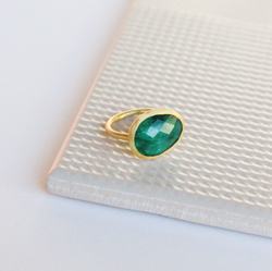 NEW! Charlotte Ring - Emerald