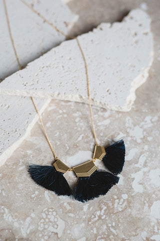 Triple Threat Fringe Necklace