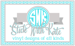 Stick With Kate - 10% off all orders & free delivery within 15 miles with a $30 purchase.