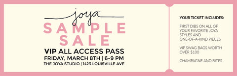 VIP Sample Sale Ticket