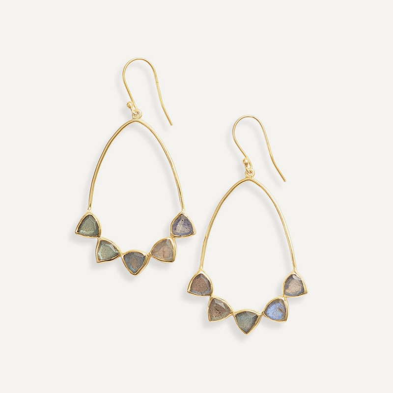 Becca Earrings - Labradorite