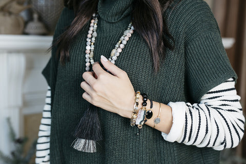 Perfect Layers Bracelet- Blush