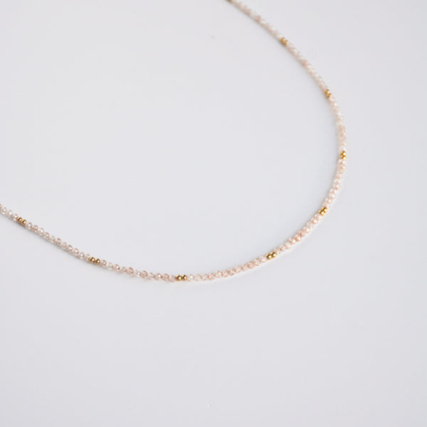 Beaded Wrap Yellow Zircon Necklace