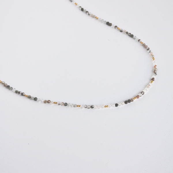 Beaded Wrap Multi Stone Necklace