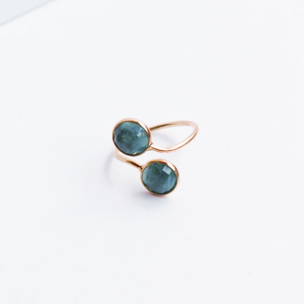 Two Stone Gemstone Ring