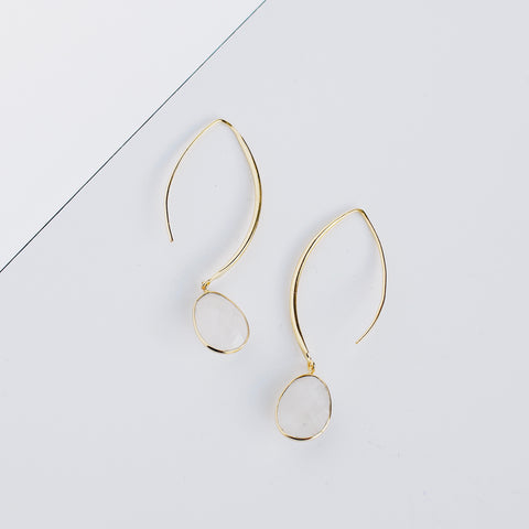 Stiletto Earrings - Moonstone