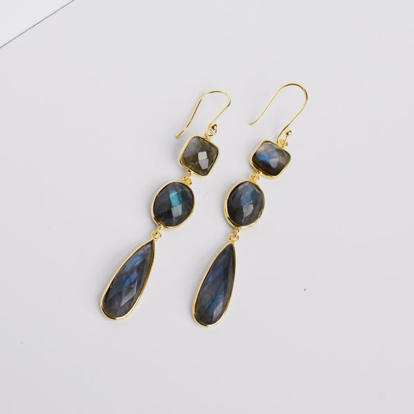 Amelie Earrings - Labradorite