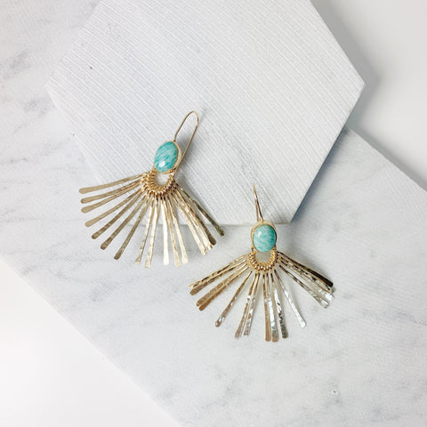 Aretha Earrings- Amazonite