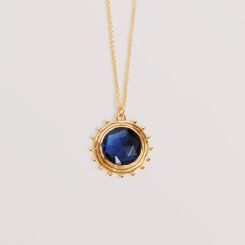 Catalina Necklace - Blue Iolite