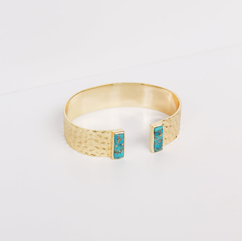 Collins Cuff Bracelet- Turquoise