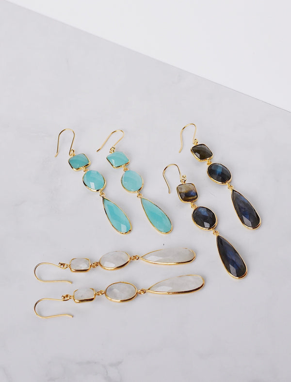 Amelie Earrings - Moonstone