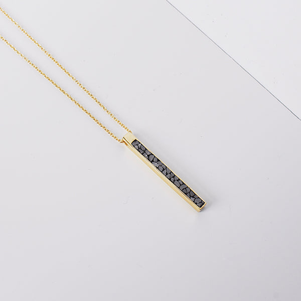 Matchstick Pendant - Black/White Deco Diamond