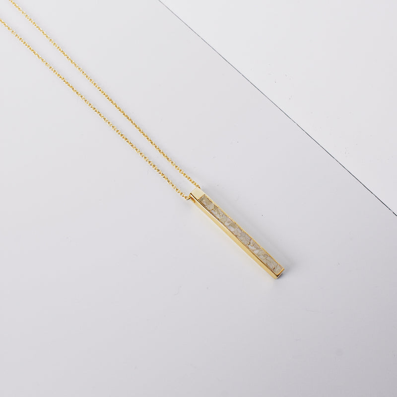 Matchstick Pendant Necklace- Black/White Deco Diamond