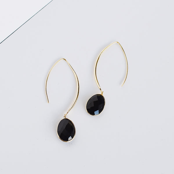 Stiletto Earrings - Black Onyx