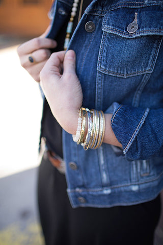 Mixed Metal Bangle