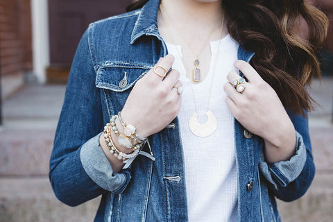 Perfect Layers Bracelet- Pearl