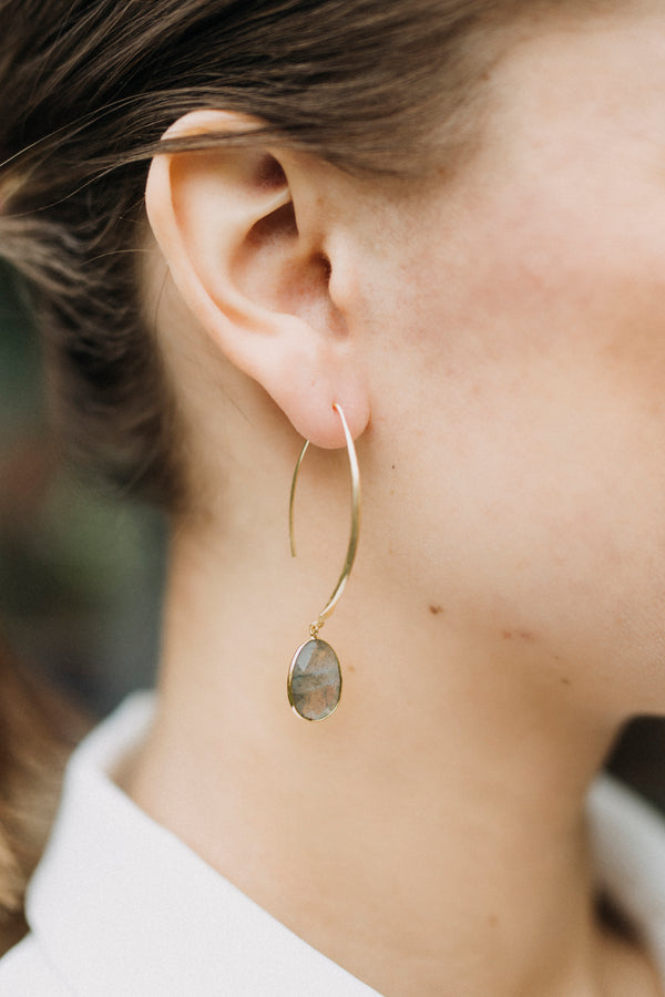 Stiletto Earrings - Labradorite