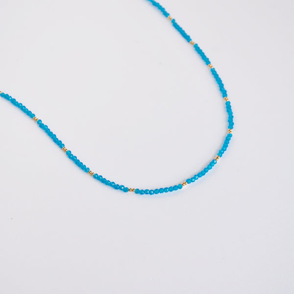 Beaded Wrap Blue Glass