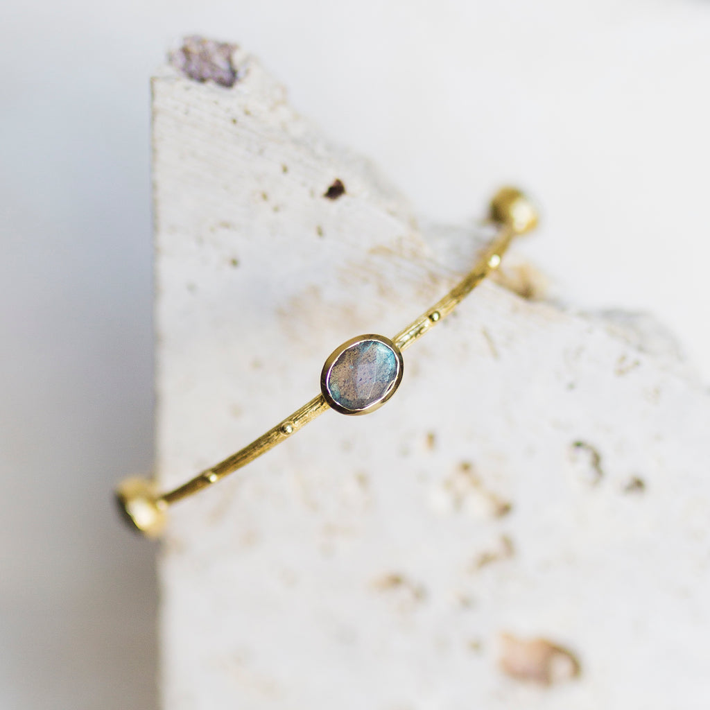 Etruscan Bangle- Labradorite