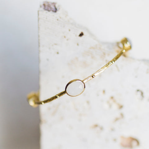 Etruscan Bangle- Moonstone