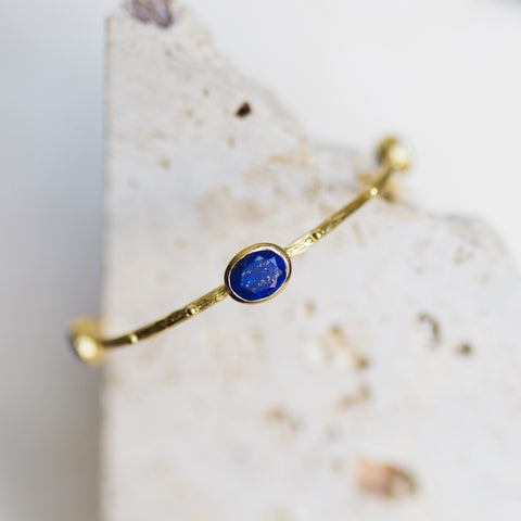 Etruscan Bangle- Lapis