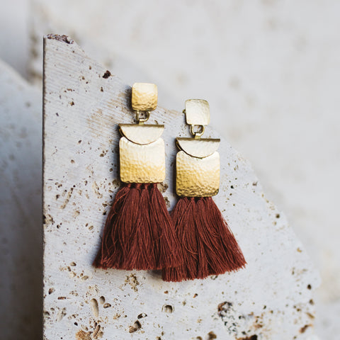 Roman Earrings- Cinnamon
